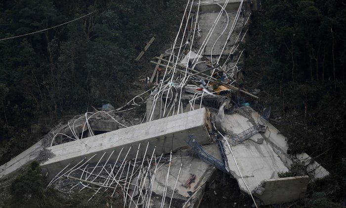 Ten killed, eight injured as bridge collapses in Colombia: WARNING GRAPHIC IMAGES