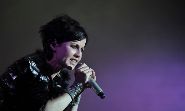 Irish singer Dolores O'Riordan of Irish band The Cranberries performs on stage during the 23th edition of the Cognac Blues Passion festival in Cognac on July 07, 2016. (GUILLAUME SOUVANT/AFP/Getty Images)