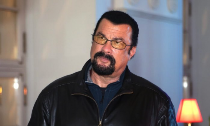 Actor Steven Seagal  attends qualifying ahead of the Russian Formula One Grand Prix at Sochi Autodrom on Oct. 11, 2014, in Sochi, Russia.  (Clive Mason/Getty Images)