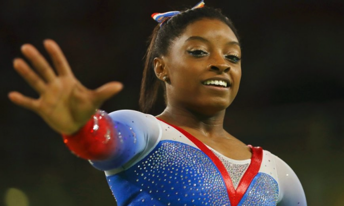 Simone Biles won four gold medals at the 2016 Rio de Janeiro Olympics. (Reuters/Mike Blake)