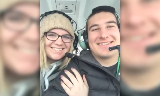 Man takes his girlfriend on first solo plane ride—but when they're riding over lake, she sees it