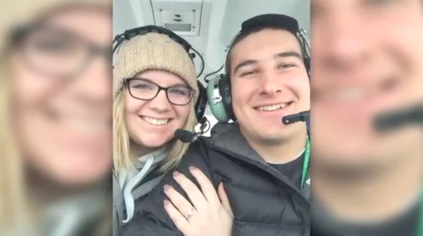 Man Takes His Girlfriend On First Solo Plane Ridebut When Theyre