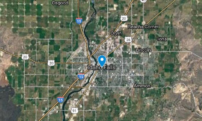 Idaho Falls, Idaho. (Screenshot via Google My Maps)