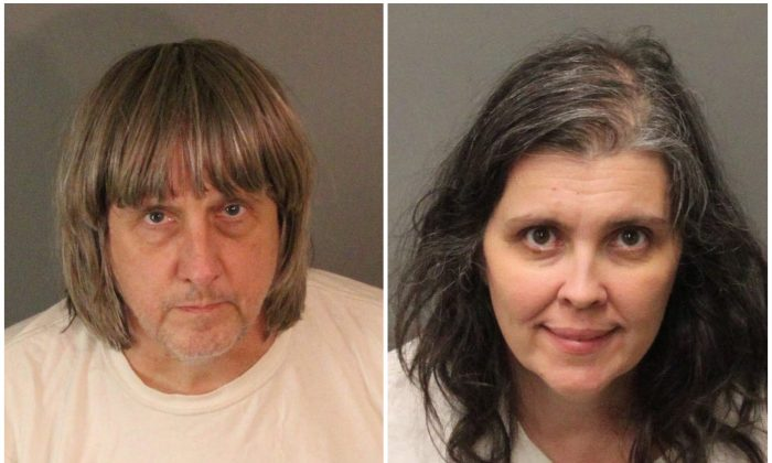 A combination photo of David Allen Turpin (L) and Louise Ann Turpin as they appear in booking photos provided by the Riverside County Sheriff's Department in Riverside County, California, U.S., January 15, 2018.   (Riverside County Sheriff's Department/Handout via Reuters)
