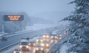 Hundreds Stranded Overnight in Cars as Britain Is Hit by a Foot of Snow