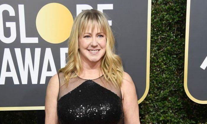 Tonya Harding attends The 75th Annual Golden Globe Awards at The Beverly Hilton Hotel in Beverly Hills, California on Jan. 7, 2018. (Photo by Frazer Harrison/Getty Images)