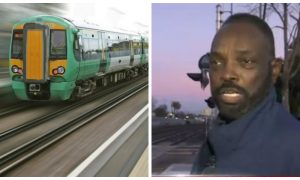 Man spots car on the tracks, goes to investigate. But who was inside—he knew there was no time