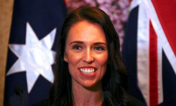 New Zealand Prime Minister Jacinda Ardern smiles as she answers a question during a media conference in Sydney, Australia, Nov. 5, 2017.     (Reuters/David Gray)