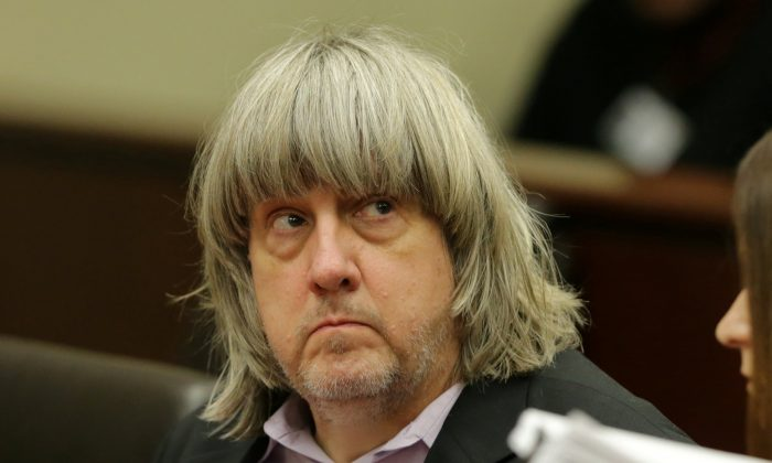 David Turpin appears in court for his arraignment in Riverside, Calif., Jan. 18, 2018. (Terry Pierson/Pool/Reuters)