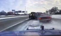 Dashcam Video Shows Car in Detroit Sliding on Ice, Slamming Into Tow Truck
