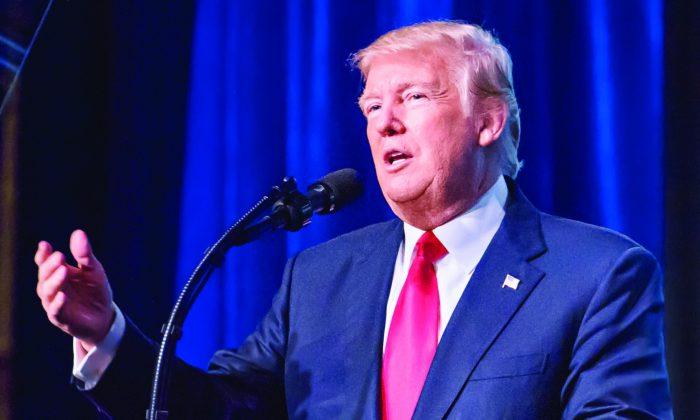 President Donald Trump in Nashville, Tenn., on Jan. 8. (SAMIRA BOUAOU/THE EPOCH TIMES)
