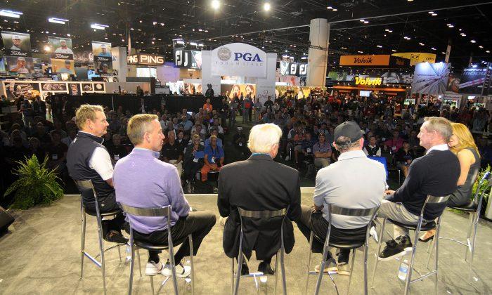 SiriusXM PGA Tour Radio's Teacher's Town Hall at The PGA Merchandise Show In Orlando, Florida on Jan. 26, 2017. (Gerardo Mora/Getty Images for SiriusXM)
