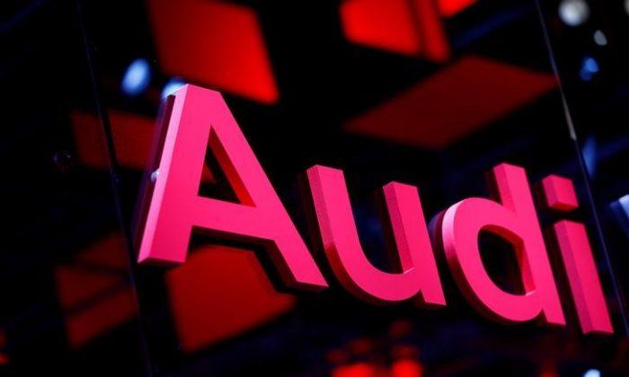 An Audi logo is pictured at the Frankfurt Motor Show (IAA) in Frankfurt, Germany September 16, 2017. (Reuters/Ralph Orlowski)