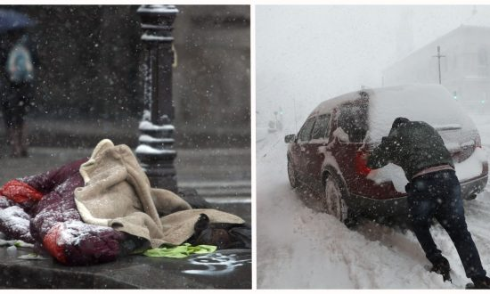 Freezing Cold & Cars Were Getting Stuck in Snow. What Homeless Man Gives up to Help Them—Unheard of