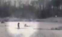 Dashcam Footage: Police Officer Falls Through Ice Into Pond During Rescue