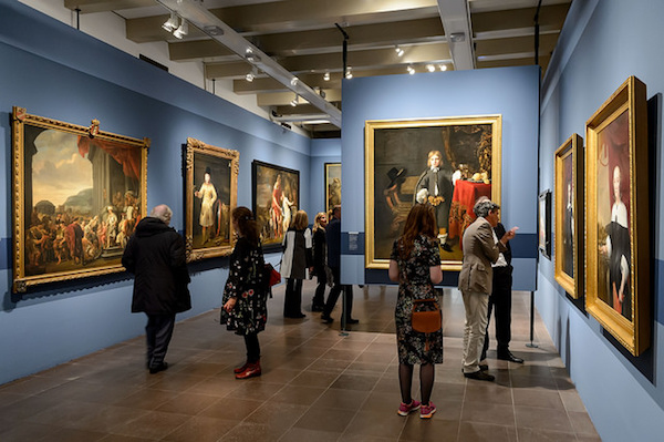"""The opening of the exhibition """"Ferdinand Bol and Govert Flinck: Rembrandt's Master Pupils"""" at the Amsterdam Museum, Oct. 12, 2017. (Amsterdam Museum)"""
