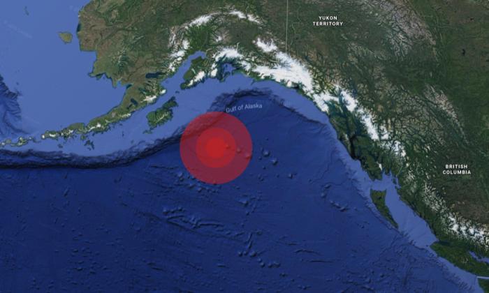 An 8.2 earthquake hit southeast of Chiniak, Alaska, on Tuesday, Jan. 23, prompting a tsunami warning. (Google Maps)