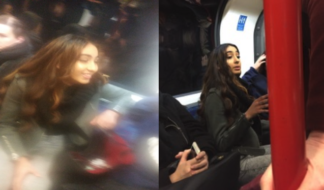 Police have released CCTV images of a woman wanted in connection with an incident on a London Tube train, in which a mother of three was racially abused and kicked in the stomach in front of her children. (British Transport Police)