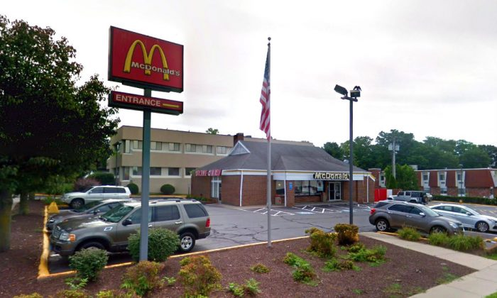 McDonald's restaurant on Black Rock Turnpike in Fairfield, Conn. (Screenshot via Google Street View)