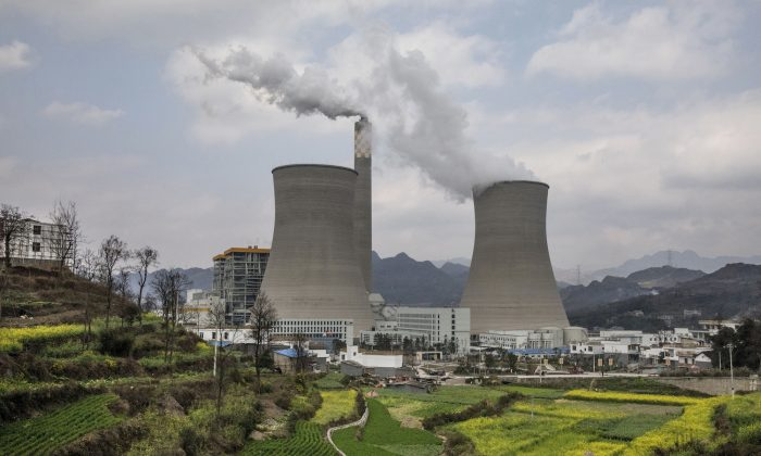 A newly built Chinese state-owned coal-fired power plant in Liuzhi County, Guizhou Province, on Feb. 7, 2017.(Kevin Frayer/Getty Images)