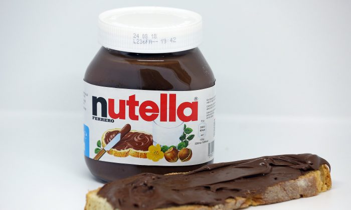 A jar of Nutella chocolate-hazelnut paste is seen in this picture illustration taken Oct. 22, 2017. (Reuters/Stefano Rellandini)