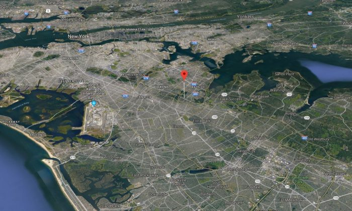 Map indicates Hollis Hills, Queens, New York, where a mother of four received $67,000 after continuous false Medicaid claims. (Screenshot via Google Maps)