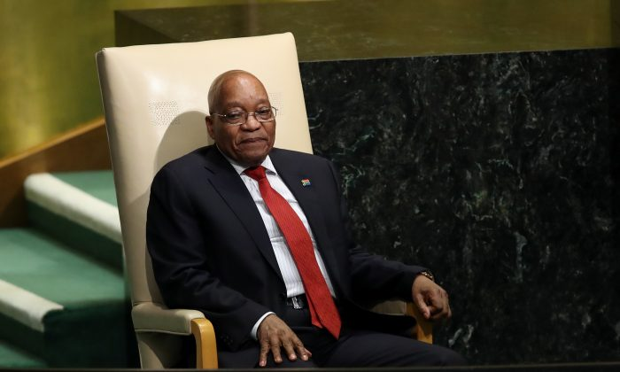 Jacob Zuma, President of South Africa, in a Sept. 20, 2017 file photo. (Drew Angerer/Getty Images)