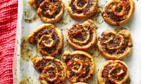 Recipe: Elizabeth Heiskell's Sausage and White Cheddar Pinwheels