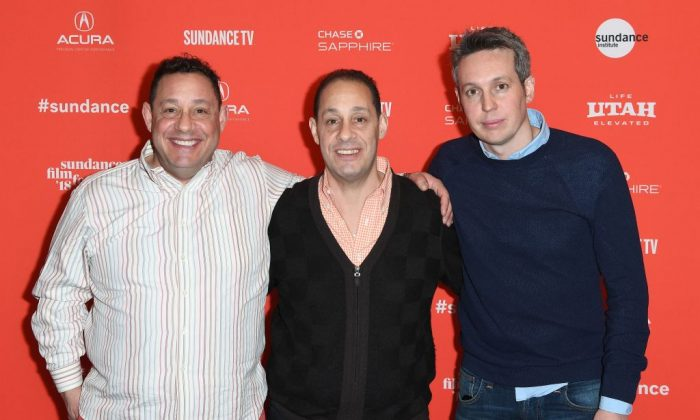 David Kellman, Robert 'Bobby' Shafran and director Tim Wardle attend the world premiere 'Three Identical Strangers' during the Sundance Film Festival on January 19, 2018 in Park City, Utah. (Photo credit should read ANGELA WEISS/AFP/Getty Images)