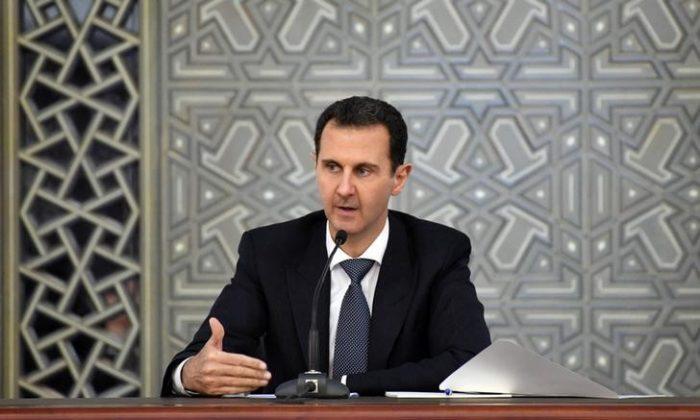 Syrian President Bashar al-Assad as seen in Damascus, Syria Nov. 14, 2017. (SANA/Handout via Reuters)