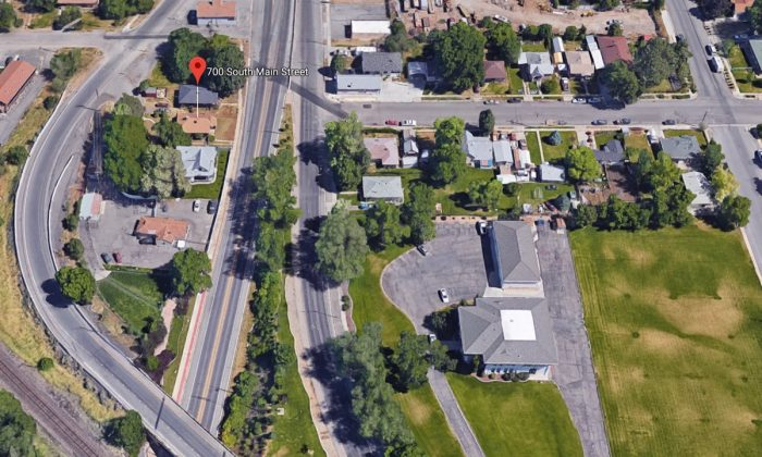 700 S Main St., the area the Springville police officer was patrolling when he was saved by a passerby on Feb. 2, 2018, in Springville, Utah. (Screenshot via Google Maps)