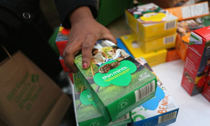 Girl scout sells over 300 boxes of cookies outside California marijuana dispensary