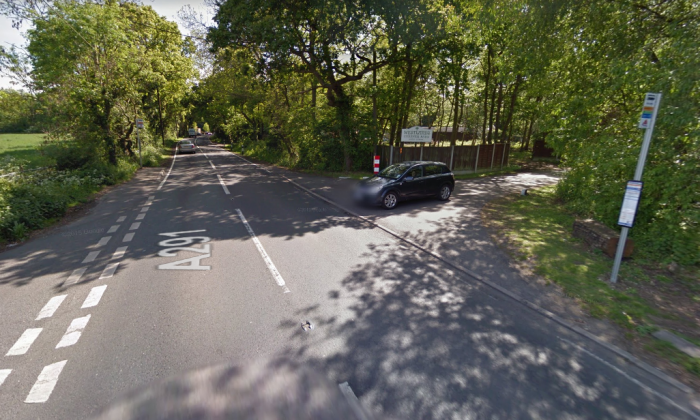 Richard Kray has been sentenced for killing his daughter in his caravan at Westlands caravan park. The entrance of the park is pictured above. (Screenshot via Google Maps)