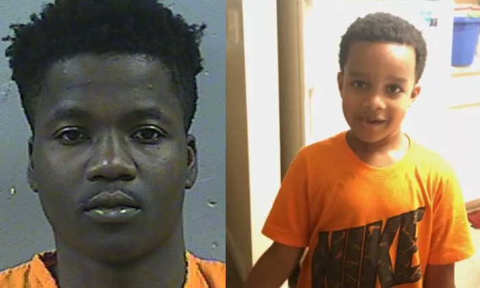 D'Allen Washington (L) pleaded guilty to accessory after the fact to kidnapping of 6-year-old Kingston Frazier (R). (Madison County Jail / JPD)