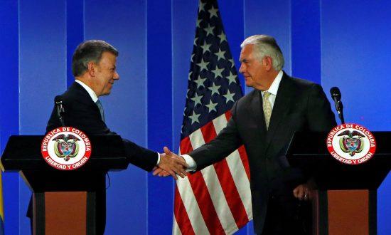 Tillerson Praises Colombia Aid to Venezuelans, Anti-Drug Efforts