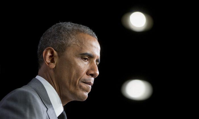 Then-President Barack Obama in Washington on July 31, 2014. (Andrew Harrer-Pool/Getty Images)
