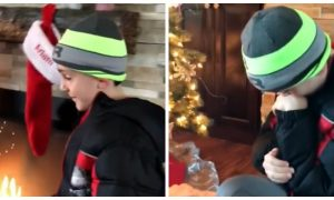 Boy is told to check under the tree. But the crazy thing he finds—he's completely overcome