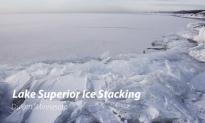 Strangely Hypnotic Ice Stacking Phenomenon on Lake Superior