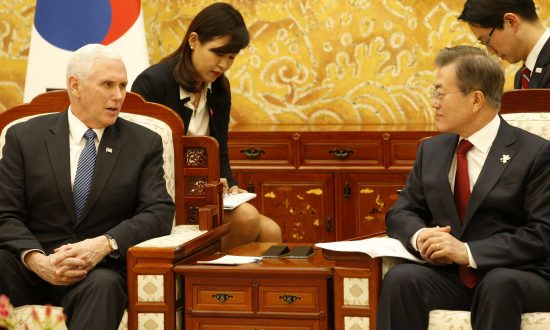 Pence Says South Korea President Moon Supports US Additional Sanctions on North Korea