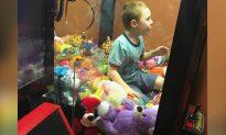 Toy Temptation Got Kid Stuck in Claw Machine