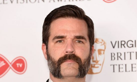 Rob Delaney poses in the Winner's room at the Virgin TV BAFTA Television Awards at The Royal Festival Hall on May 14, 2017 in London, England. (Jeff Spicer/Getty Images)