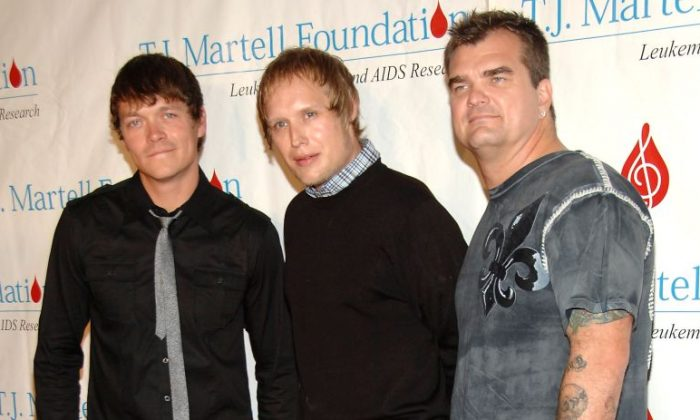 Matt Roberts; Todd Harrell and Chris Henderson of 3 Doors Down attend the 35th Annual Awards Gala hosted by the T.J. Martell Foundation at Marriot Marquis  in New York City on Oct. 27, 2010.  (Photo by Ben Gabbe/Getty Images)