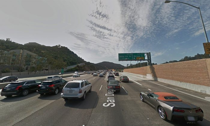 Woman in Stopped Car Killed in Collision on California's 405