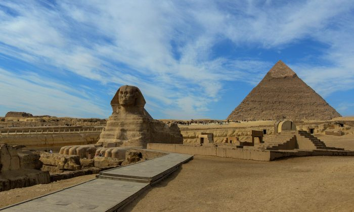 The Sphinx at the Giza Pyramids complex on the outskirts of the Egptian capital Cairo on Dec. 6, 2017. (Mohamed El-Shahed/AFP/Getty Images)
