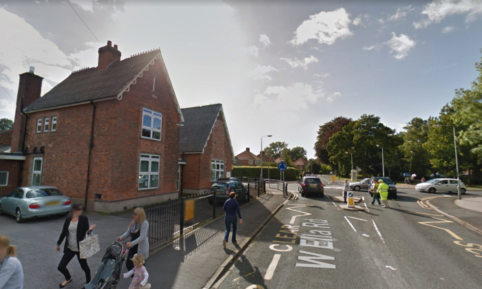 The school crossing at Kirk Ella St Andrew's Primary School, Hull, England.(Screenshot/Google Maps)
