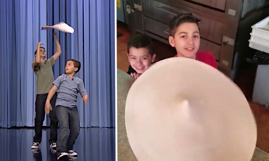 These kids' dough-tossing abilities are insanely good. But the reason they do it is even cooler