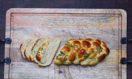 Rosemary Garlic Challah Recipe, from Shannon Sarna's 'Modern Jewish Baker' Cookbook