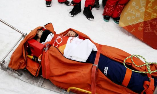 Japanese Snowboarder in Serious Crash in Olympic Halfpipe Final