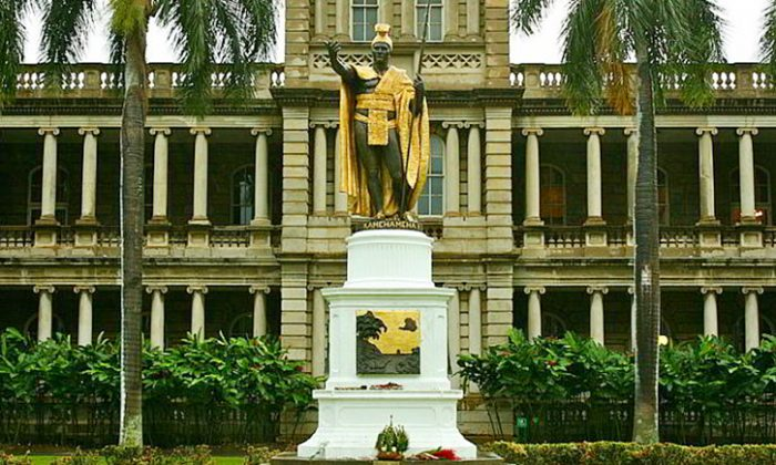 A statue of King Kamehameha I in Honolulu, Hawaii. (Balazs Barnucz/Wikimedia Commons)