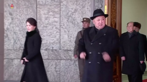 North Korean dictator Kim Jong Un in an undated image released by state media.